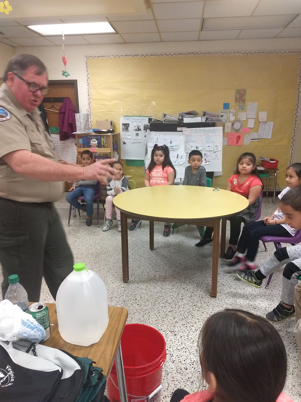 Mr. Steven Davis from Westmoreland State Park visited Mrs. Cisneros' students who are working on their PBL titled
