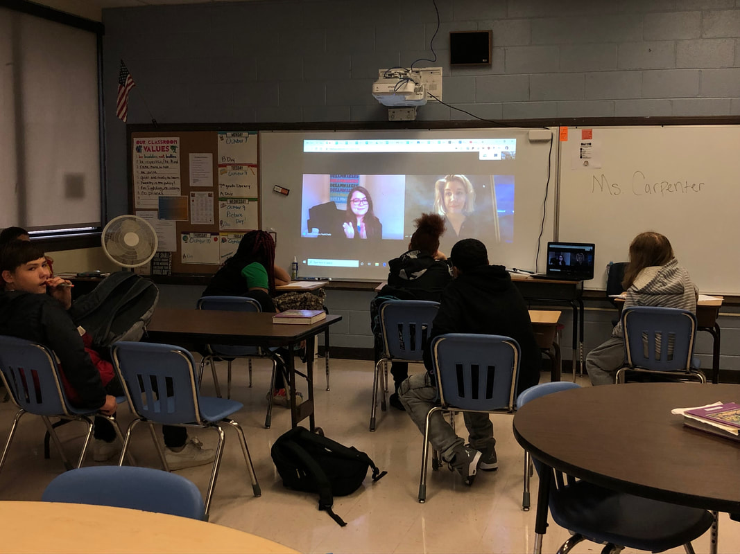 Today, Julia Carpenter, journalist, blogger, and novel writer, joined us via Gchat to speak with my students about writing professionally and personally. They asked several questions and learned a lot!