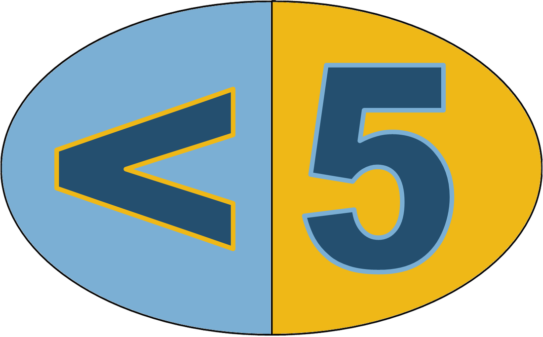 Strive for Less Than 5 Absences Logo