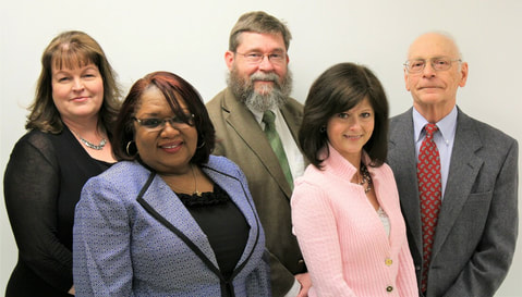 WMLCPS School Board, from left to right, Sandy Ramsey, Iris Lane, Daniel Wallace, Patricia Lewis, Ralph Fallin.